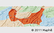 Political Panoramic Map of Ba Xian, lighten