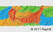 Political Panoramic Map of Ba Xian