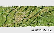 Satellite Panoramic Map of Ba Xian