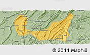 Savanna Style Panoramic Map of Ba Xian