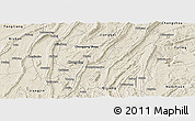 Shaded Relief Panoramic Map of Ba Xian