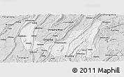 Silver Style Panoramic Map of Ba Xian