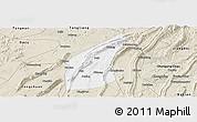 Classic Style Panoramic Map of Bishan