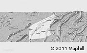 Gray Panoramic Map of Bishan