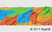 Political Panoramic Map of Bishan