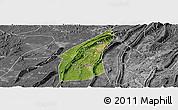 Satellite Panoramic Map of Bishan, desaturated