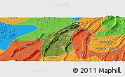 Satellite Panoramic Map of Bishan, political outside