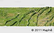 Satellite Panoramic Map of Bishan