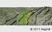 Satellite Panoramic Map of Bishan, semi-desaturated