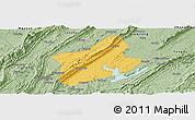 Savanna Style Panoramic Map of Changshou
