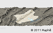 Shaded Relief Panoramic Map of Changshou, darken