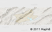 Shaded Relief Panoramic Map of Changshou, lighten