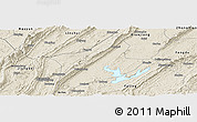 Shaded Relief Panoramic Map of Changshou