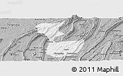 Gray Panoramic Map of Chongqing Shiqu