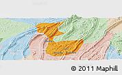 Political Panoramic Map of Chongqing Shiqu, lighten