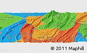 Political Panoramic Map of Chongqing Shiqu