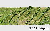 Satellite Panoramic Map of Chongqing Shiqu