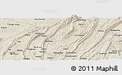Shaded Relief Panoramic Map of Chongqing Shiqu