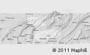 Silver Style Panoramic Map of Chongqing Shiqu