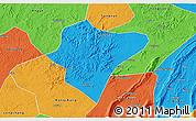 Political 3D Map of Dazu