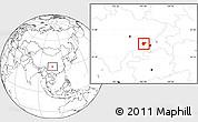 Blank Location Map of Dazu