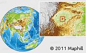 Physical Location Map of Dazu