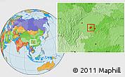 Political Location Map of Dazu