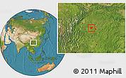 Satellite Location Map of Dazu