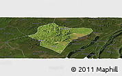 Satellite Panoramic Map of Dazu, darken