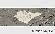 Shaded Relief Panoramic Map of Dazu, darken