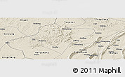 Shaded Relief Panoramic Map of Dazu