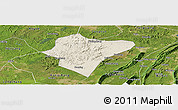 Shaded Relief Panoramic Map of Dazu, satellite outside