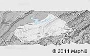 Gray Panoramic Map of Fuling