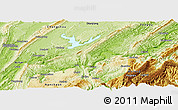 Physical Panoramic Map of Fuling