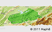 Political Panoramic Map of Fuling, physical outside