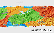 Political Panoramic Map of Fuling