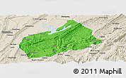 Political Panoramic Map of Fuling, shaded relief outside