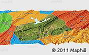 Satellite Panoramic Map of Fuling, political outside