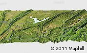 Satellite Panoramic Map of Fuling
