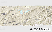 Shaded Relief Panoramic Map of Fuling