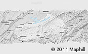 Silver Style Panoramic Map of Fuling