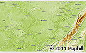 Physical 3D Map of Hechuan