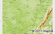 Physical Map of Hechuan