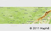 Physical Panoramic Map of Hechuan