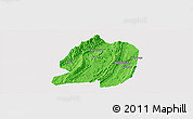 Political Panoramic Map of Jiangbei, single color outside