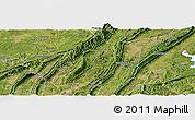 Satellite Panoramic Map of Jiangbei