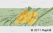 Savanna Style Panoramic Map of Jiangbei