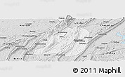 Silver Style Panoramic Map of Jiangbei