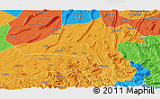 Political Panoramic Map of Jiangjin