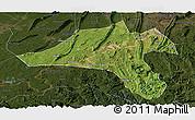Satellite Panoramic Map of Jiangjin, darken